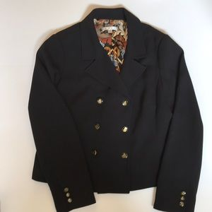 CAbi Military Double Breast Black Blazer